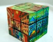 Rubik Cube, Fun Decor, Puzzle Art, Camino de Santiago Souvenir, Spanish Art, Cool Decor, Novel Vintage, Home Decor, Corporate Gift, Unique