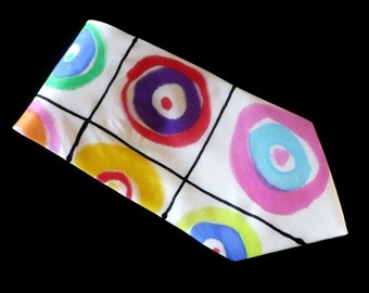 Kandinsky Inspired Hand Painted Silk Tie by Julie Riisnaes