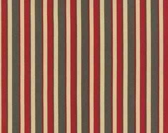 La FETE de NOEL Moda shabby quilt fabric French General Christmas Kaari Meng fern green rouge red stripe 1 yard 13676-13