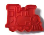 Train Cookie Cutter - Red Plastic Cookie Cutter