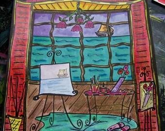 Seaside Studio, Original Hippie Art