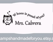 Teacher rubber stamper Personalized Teacher Self ink Custom Made Return Address Rubber Stamp great gift