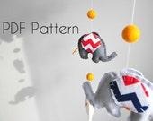 PDF elephant mobile pattern