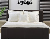 The Lake Wall Decal Removable Lake Wall Stickers Words Lettering KW027C 6x23