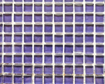 100 (10mm) Violet Grape Purple MINI Crystal Glass Mosaic Tiles 3/8 in.//Mosaics/ Mosaic Supplies//Crafts