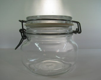Vintage Italian Bail Wire Lid Canning Jar 1/2 Liter Made by  VETRI DI FIDENZA