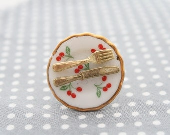 Saucer Ring Cherry Blossom Design