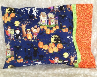 Halloween Trick or Treaters Travel Pillowcase