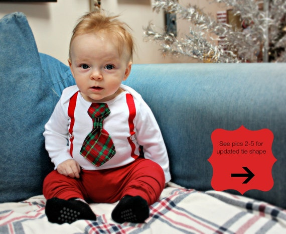 Boys' Christmas Outfits. (baby, toddler or older) boys. He can guess who the sender is with a shake of the gift box From Calvin Klein or Lauren Ralph Lauren, he'll find suit separates like blazers and pants. From Ralph Lauren, he'll discover polos or oxford shirts and ski socks.
