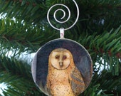 40% OFF Owl Ornament, Christmas Ornament, Christmas Gift, FREE SHIPPING, Retropage, Stocking Stuffer, Unique Gift, Handmade Ornament