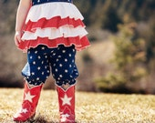 Girls Ruffled Shorts Sewing Pattern - Easy shorts pattern, Capris PDF Tutorial, Knickers 6m-5