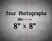 Set of 4 Prints at 8x8 / 4 Photo Set / Four 8x8 Photographs  / Save 30%