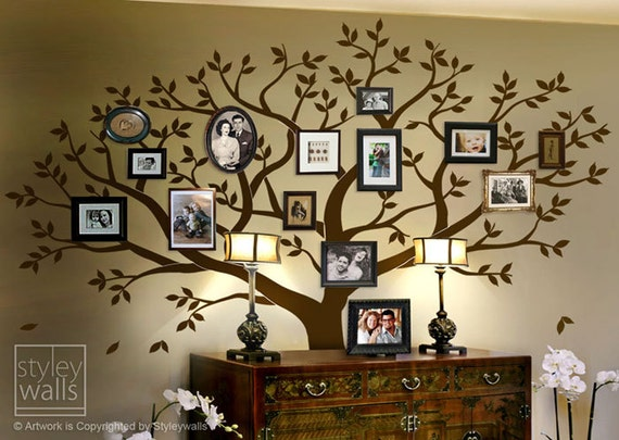 Photo Frame Family Tree Decal Wall Decals Wall Decor: Family Tree Wall Decal Tree Wall Decal Photo Frame Tree Wall