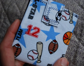 Boys or Girls small wallet - sports fan - coin pocket FREE SHIPPING