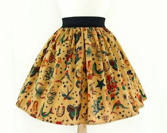 Pinup  Tattoo Art  Skirt