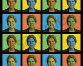 Elizabeth Warren Pop-Art T-Shirt Tee - Men's, Women's Ladies, Short, Long Sleeve, Youth Kids