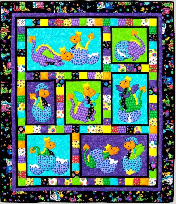 HATCHED QUILT PATTERN Cute Children's Appliqué and
