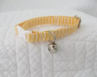Yellow Cat Collar  Breakaway Collar Custom Made