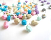 Geometric Stud Earrings, Pastel Polymer Clay Earrings, Sugarfree Candy - Your choice Mix or Match, Rare Diamonds Collection