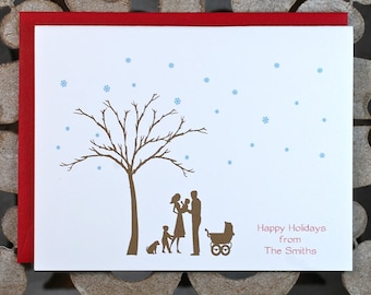 Christmas Cards, Baby Announcements, New Baby, Christmas Baby, Holiday Cards, Thank You Cards, Silhouettes, Birth Announcements