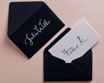 Calligraphy Stamp for Escort Cards- Seating Card Stamp