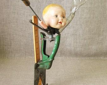 Folk Art Assemblage, Doll Art, Male Portrait, Figural, Sculpture, Found Object, Wil Shepherd Studio, Fine Art, Outsider, Original