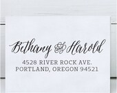 Custom Address Stamp - Calligraphy Stamp - Self Inking  - wedding stamp - Bethany