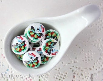 10 pcs wood buttons - sewing and scrapbooking projects -  ready to ship