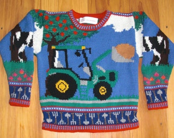 Tractor Sweater Size Seven Years