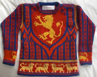 Knitting Pattern: Lion Shield Size Five Years