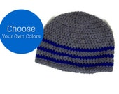 Men's Beanie Cap Custom Made Your Choice Of Color