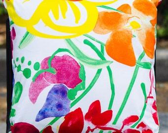 "Marimekko Decorative Throw Pillow, Handmade, Pattern: Ursula , 20""x20"""