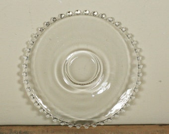 vintage candlewick glass salad plate