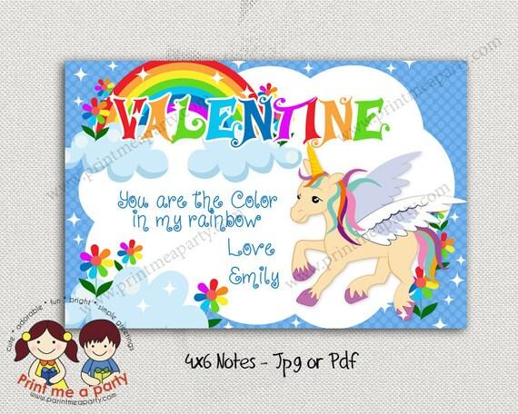Unicorn Valentines Card Valentines Party Printables
