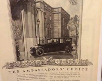 1926 Packard automobile print ad
