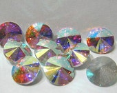 SS34 Preciosa Rivoli Crystal AB Round Rhinestone Quantity 10