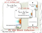 Earring Cards Display 058 Beach Theme Custom Jewelry Card Tags Necklace Card Earring Card Product Display