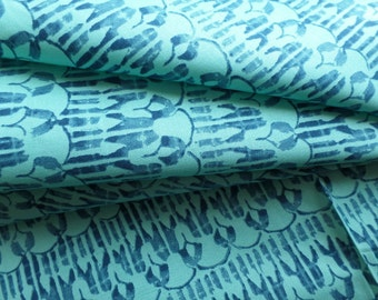 Aqua Blue Quilting Fabric - Godwin Lilly - Victoria and Albert Museum Design - Arts and Crafts Movement - PWVA027.POOLX