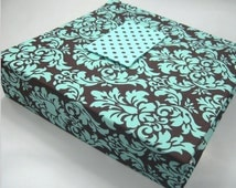 Popular Items For Blue Brown Damask On Etsy