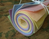 9x12 Wool Felt Sheets - The Pastel Collection - 8 Sheets of Felt