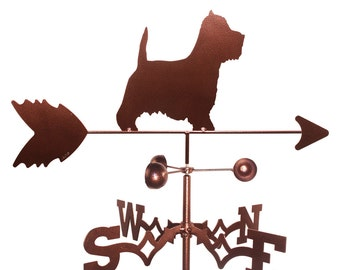 Hand Made Westie Terrier Dog Weathervane NEW