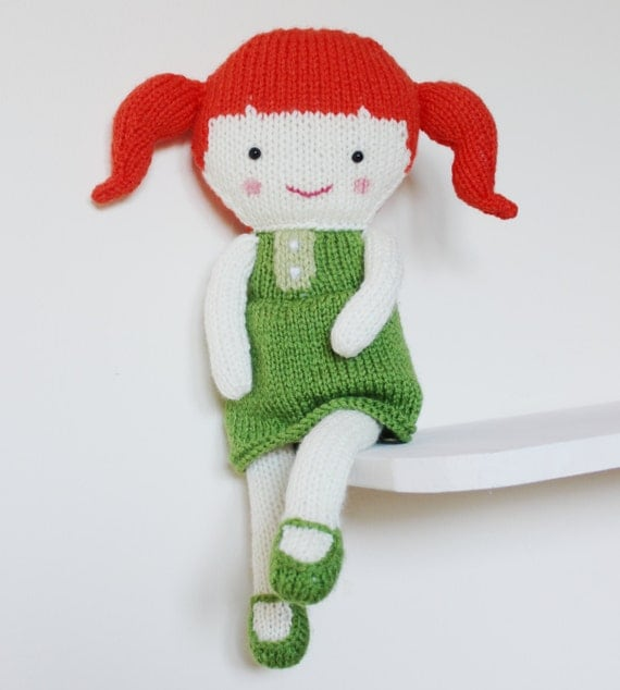 Knitting Pattern Large Rag Doll : Doll Knitting Pattern Toy Rag Doll Pattern PDF - Olive ...