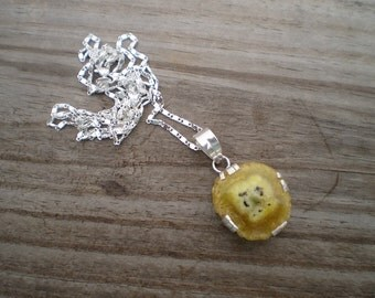 Yellow Solar Quartz Pendant Necklace
