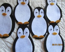 Felt Penguin Kit-DIY Christmas Crafts-Party Decorations-Winter Crafts-Christmas Tree Ornament Kit