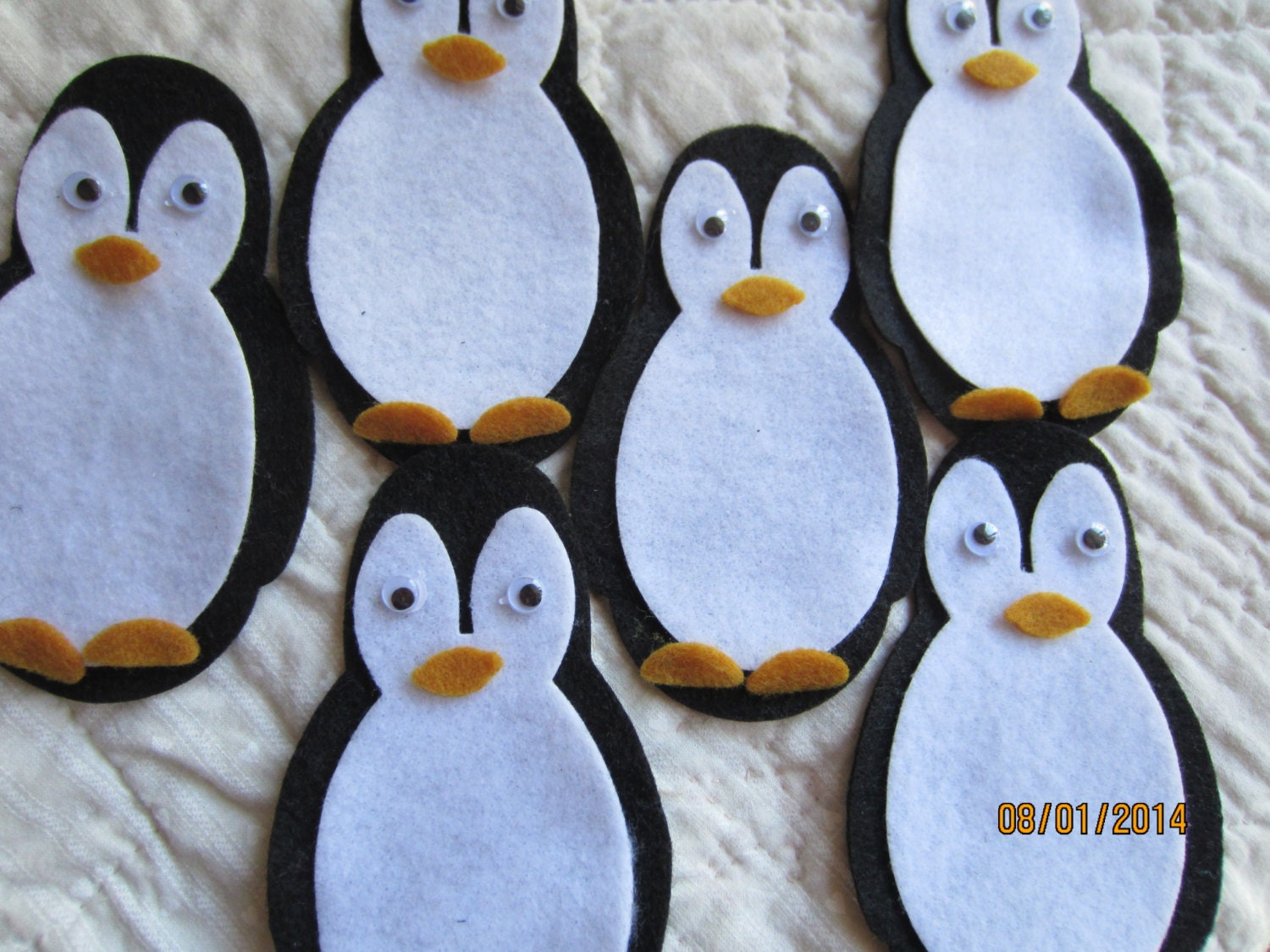Unique felt penguins related items Etsy