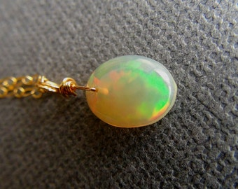 Fire Ethiopian Opal Necklace