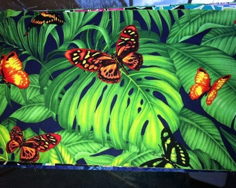 3D Butterflies on Leaves Stethoscope Cover