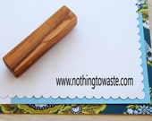 Small Olive Wood Business Stamp - Your Web Address