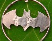 Bat signal design on a quarter