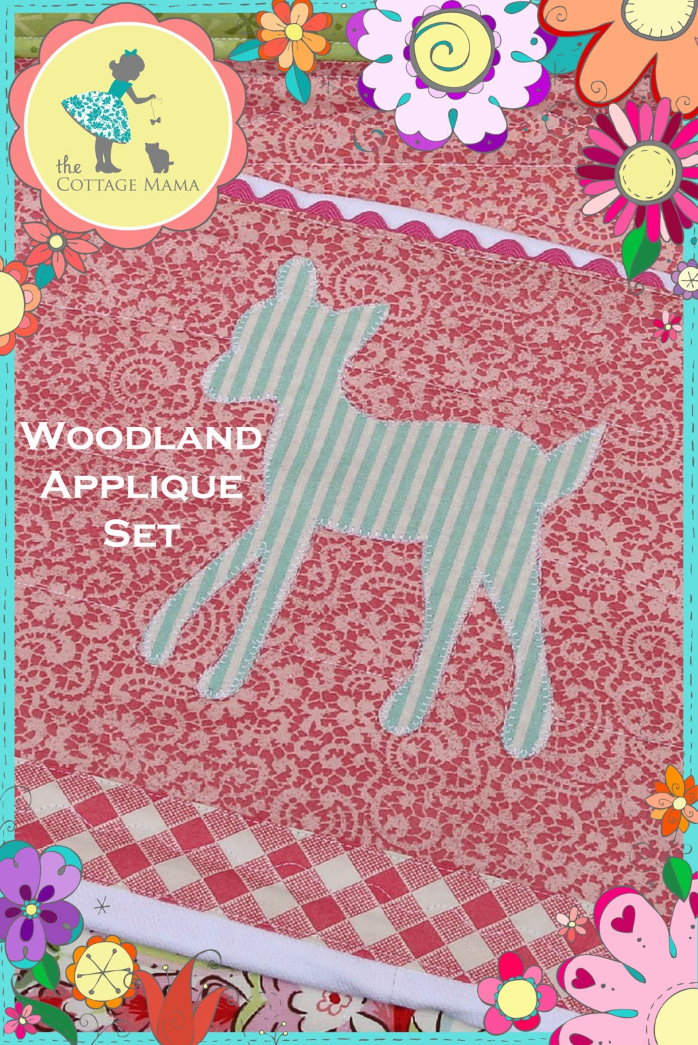 PDF Woodland Applique Sewing Pattern Set for Boys and Girls